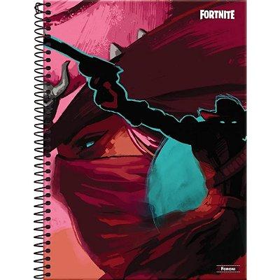 Caderno Fortnite - Cavaleiro - 10 Matérias - Foroni
