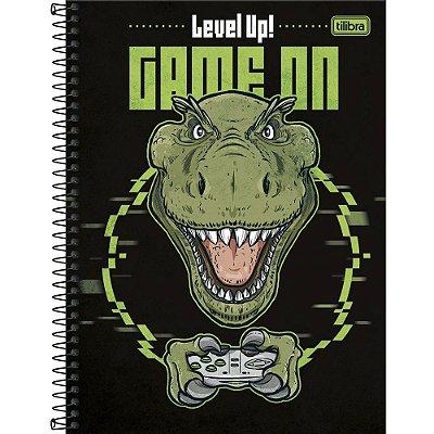 Caderno Raptor - Dino Gamer - 80 Folhas - Tilibra