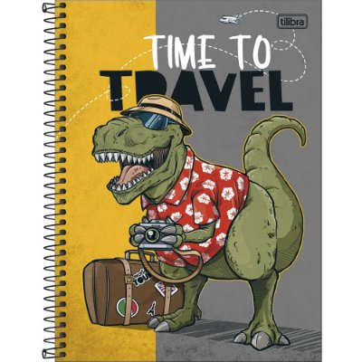 Caderno Raptor - Dino Turista - 80 Folhas - Tilibra