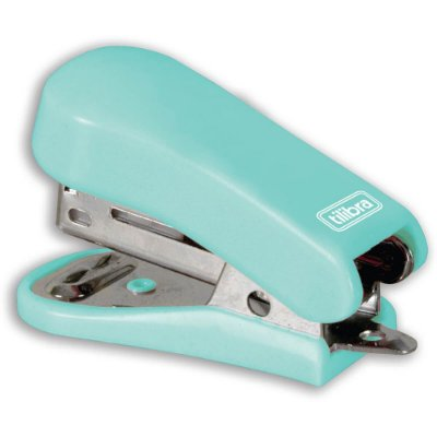 Mini Grampeador Com Extrator - Verde - Tilibra