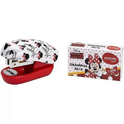 Mini Grampeador Minnie Mouse - 1.000 Grampos - Molin