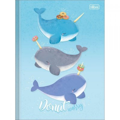 Caderno Brochura Bubble - Donut Worry - 80 Folhas - Tilibra