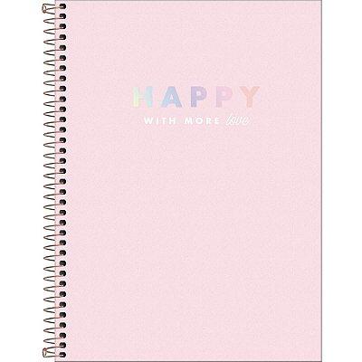 Caderno Happy - Love - 80 Folhas - Tilibra