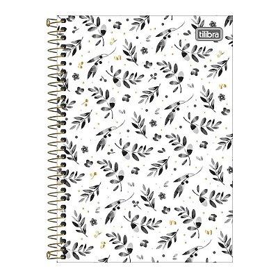 Caderno Pequeno 1/4 B&W - Raminhos - Tilibra