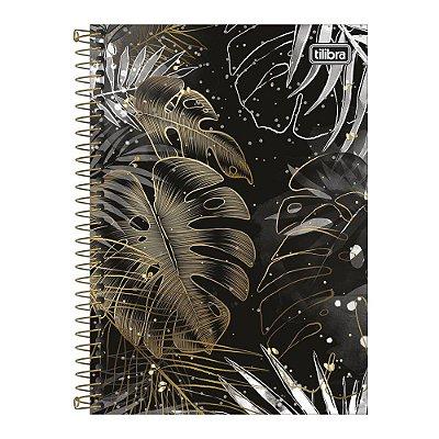 Caderno Pequeno 1/4 B&W - Dourado - Tilibra
