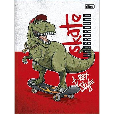 Caderno Brochura Raptor - Skate - 80 Folhas - Tilibra