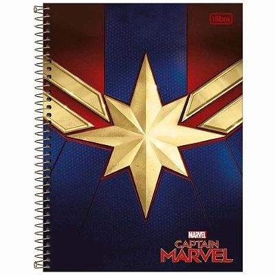 Caderno Capitã Marvel - Star - 80 Folhas - Tilibra