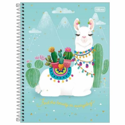 Caderno Hello! - Beauty - 160 Folhas - Tilibra
