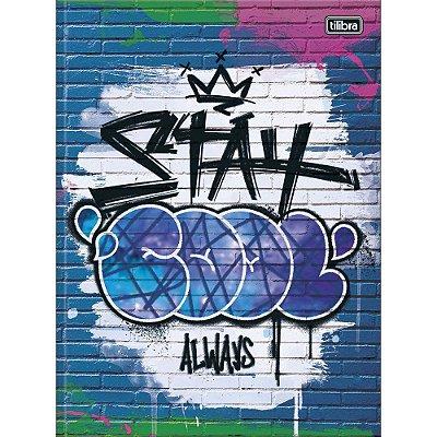 Caderno Brochura Graffiti - Stay - 80 Folhas - Tilibra
