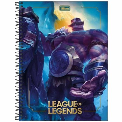 Caderno League of Legends - Braum - 80 Folhas - Tilibra