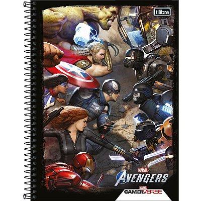 Caderno Avengers GameVerse - Batalha - 80 Folhas - Tilibra