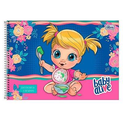 Caderno De Cartografia e Desenho Baby Alive - Papinha - Tilibra