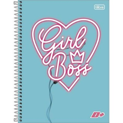 Caderno D+ Girl Boss - 10 Matérias - Tilibra