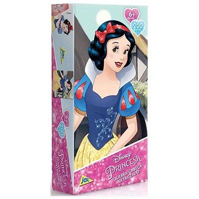 Quebra-Cabeça Metalizado Princesa - 200 peças - Branca de Neve - Toyster