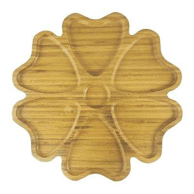 Petisqueira de Bambu Trevo - 6 divisórias - FWB