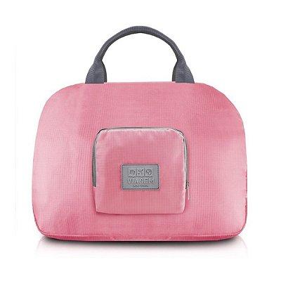 Bolsa de Viagem Dobrável - Rosa - Jacki Design