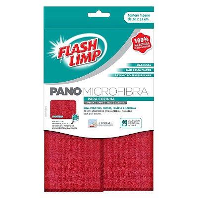 Pano Microfibra Para Cozinha - Flash Limp