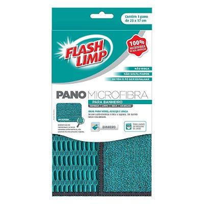 Pano Microfibra para Banheiro - Flash Limp