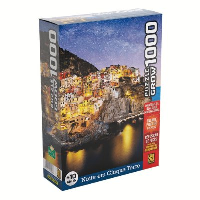 Quebra-Cabeça Cinque Terre - 1000 peças - Grow