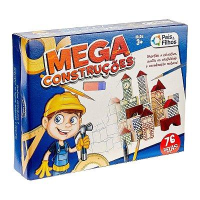 Jogo Mega Construções - 76 peças - Pais e Filhos