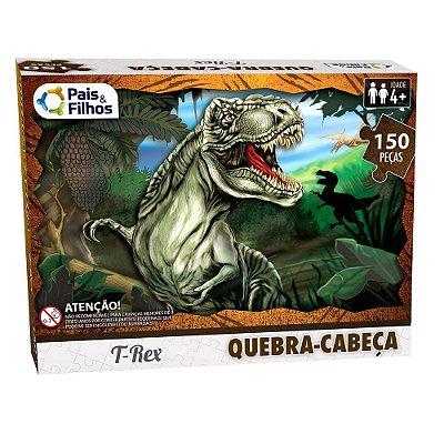Quebra Cabeça Tiranossauro Rex - 150 Peças - Pais e Filhos