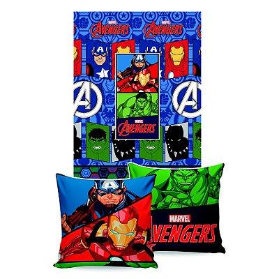 Manta Almofada Avengers - Jolitex