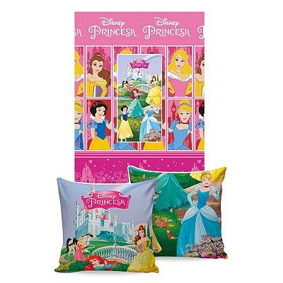 Manta Almofada Princesas - Jolitex