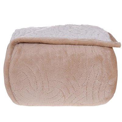Cobertor com Sherpa Queen - Areia - Tessi