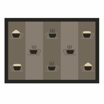 Tapete de Cozinha 45cm x 65cm - Coffe Time - Kacyumara