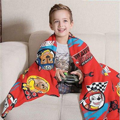 Manta Fleece Infantil 1,25m x 1,50m - Patrulha Canina - Lepper