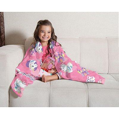 Manta Fleece Infantil 1,25m x 1,50m - Doce Fantasia - Lepper