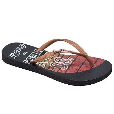 Chinelo Feminino Sun Fade Preto - Coca Cola Shoes