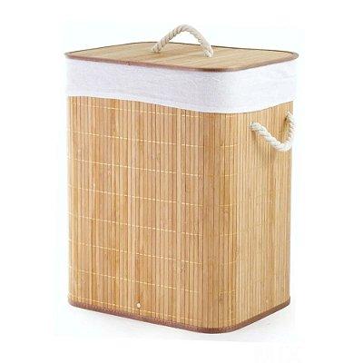 Cesto em Bambu Claro com Tampa - Mimo Style