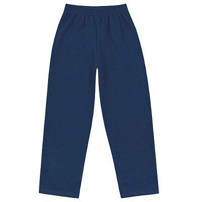 Calça Moletom Básica Azul Marinho - Fakini