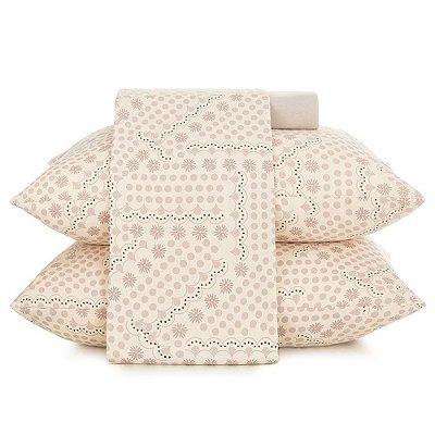 Jogo de Cama In Cotton Queen - Pink Lace - Altenburg