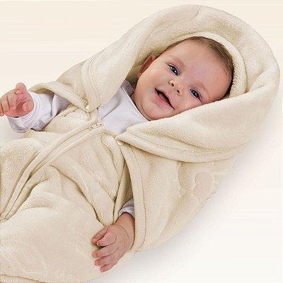 Baby Sac Microfibra com Relevo Pets - Bege - Jolitex
