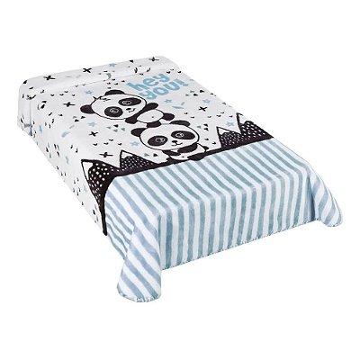 Cobertor para Berço Le Petit Panda Azul - Colibri