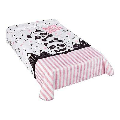 Cobertor para Berço Le Petit Panda Rosa - Colibri