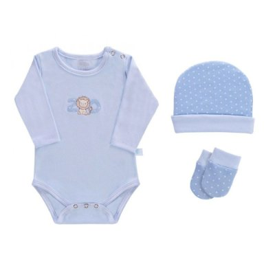 Baby Kit 3 Peças - Zoo Azul - Colibri