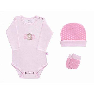 Baby Kit 3 Peças - Zoo Rosa - Colibri