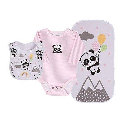 Baby Kit 3 Peças - Panda Rosa - Colibri