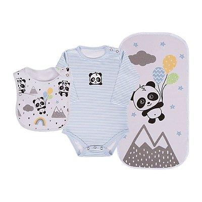 Baby Kit 3 Peças - Panda Azul - Colibri