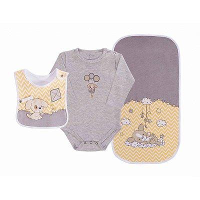 Baby Kit 3 Peças - Cachorrinho Amarelo - Colibri