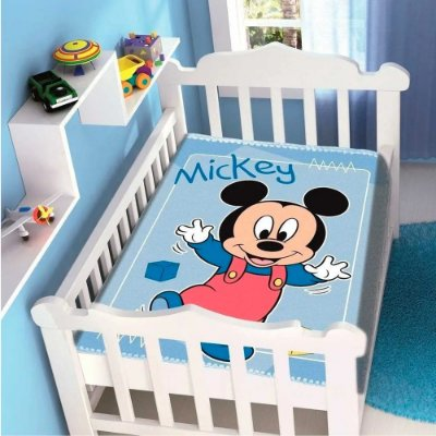 Cobertor Raschel Plus Disney Baby - Mickey II - Jolitex