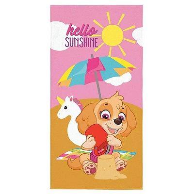 Toalha Aveludada Patrulha Canina - Hello Sunshine - Lepper
