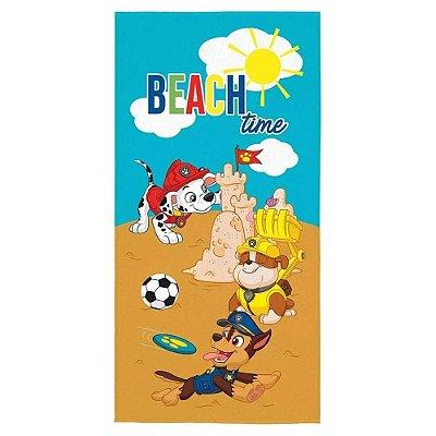 Toalha Aveludada Patrulha Canina - Beach Time  - Lepper