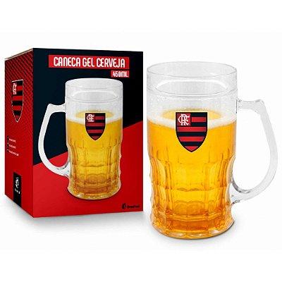 Caneca de Cerveja Gel Flamengo - 450ml - Brasfoot