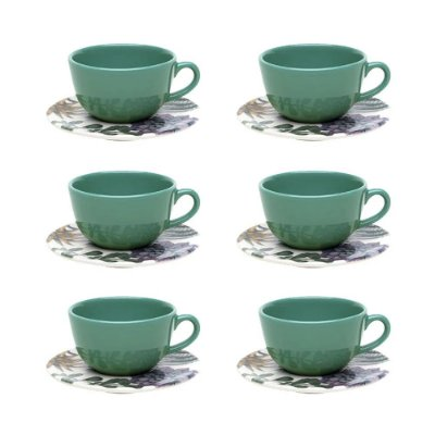 Jogo de Xícaras de Chá Unni Bothanica - 12 peças - Oxford