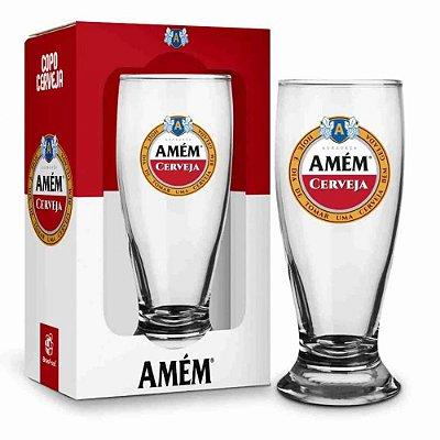 Copo Munich Amém Cerveja - 200ml - Brasfoot