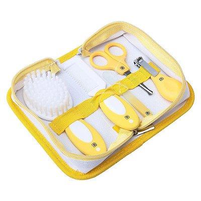 Kit Cuidados Para o Bebê 5 Peças Com Necessaire - Amarelo - Pimpolho